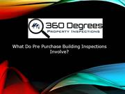 What Do Pre Purchase Building Inspections Involve