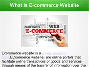 What Is E-commerce Website