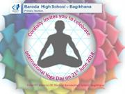 yoga day invitation card