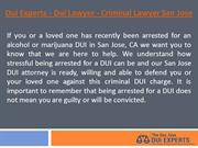 Dui Experts - Dui Lawyer - Criminal Lawyer San Jose