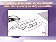 personal retirement benefit plan