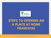 The process of Starting Franchise | A Place At Home Franchise