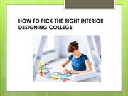 How to pick the right Interior Designing College