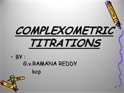 COMPLEXOMETRIC TITRATIONS ppt