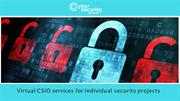 Find the best Virtual CISO Services