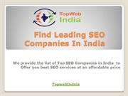 Find Leading SEO Companies In India