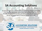 Accounting Firm North York - SA Accounting Solutions