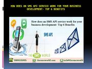 How does an SMS API service work for your business development- Top 6