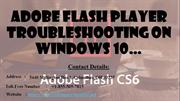 Adobe Flash Player troubleshooting on Windows 10