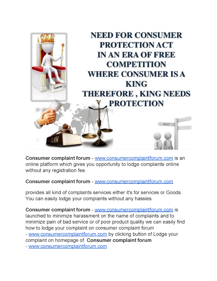 how to give complaint in consumer court