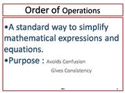 Order of Operations-YT