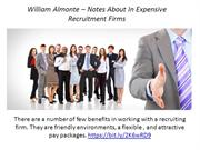 William Almonte – Notes About In Expensive Recruitment Firms