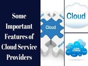Some Important Features of Cloud Service Providers