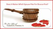 Does It Matter Which Spouse Files For Divorce First