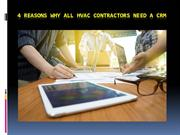 4 Reasons Why All HVAC Contractors Need a CRM