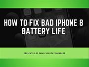 How to Fix Iphone8 Battery Problem | Apple Customer Care Service
