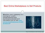 Best Online Marketplaces to Sell Products