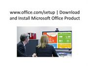 www.office.com/setup | Download and Install Microsoft Office Product