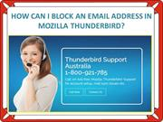 HOW CAN I BLOCK AN EMAIL ADDRESS IN MOZILLA THUNDERBIRD