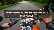 Must Know Guide To Motorcycle Insurance
