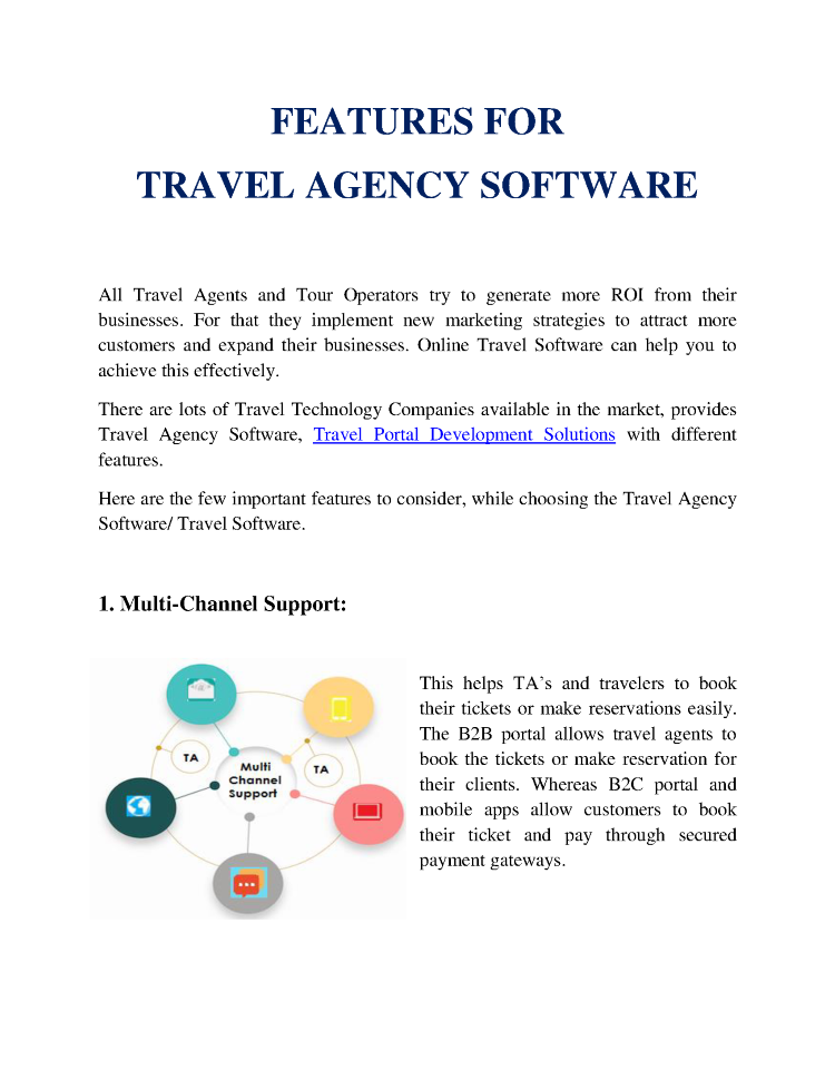 Features of Travel Agency Software |authorSTREAM