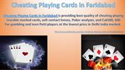Cheating Playing Cards in Faridabad