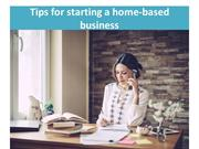 Tips for starting a home-based business
