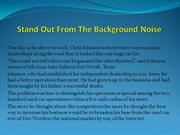Stand Out From The Background Noise