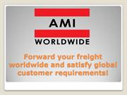 Efficient and reliable air or sea freight services worldwide