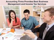Accounting firms provides best business management and income tax serv