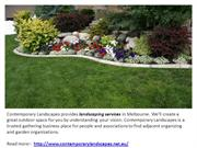 contemporary landscaping services Melbourne