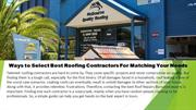 How to select best roofing Contractors to fit your requirements