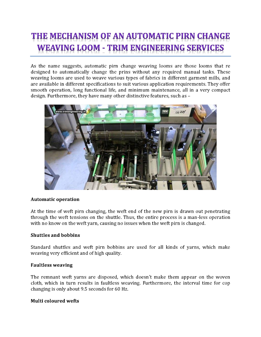 The Mechanism Of An Automatic Pirn Change Weaving Loom Authorstream Cable Diagram Http Wwwpoweredtemplatecom Powerpointdiagrams Related Presentations