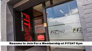 Why you Must need to Join FIT247 Gym