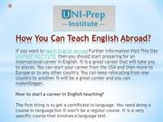 How You Can Teach English Abroad