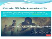 Where to Buy CSGO Ranked Account at Lowest Price