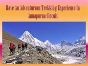 Have An Adventurous Trekking Experience In Annapurna Circuit