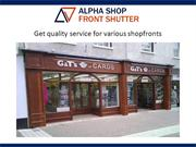 Aluminium Shopfronts in London