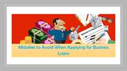 Mistakes to Avoid When Applying for Business Loans