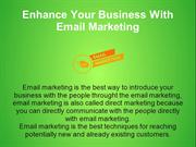 Enhance Your Business With Email Marketing