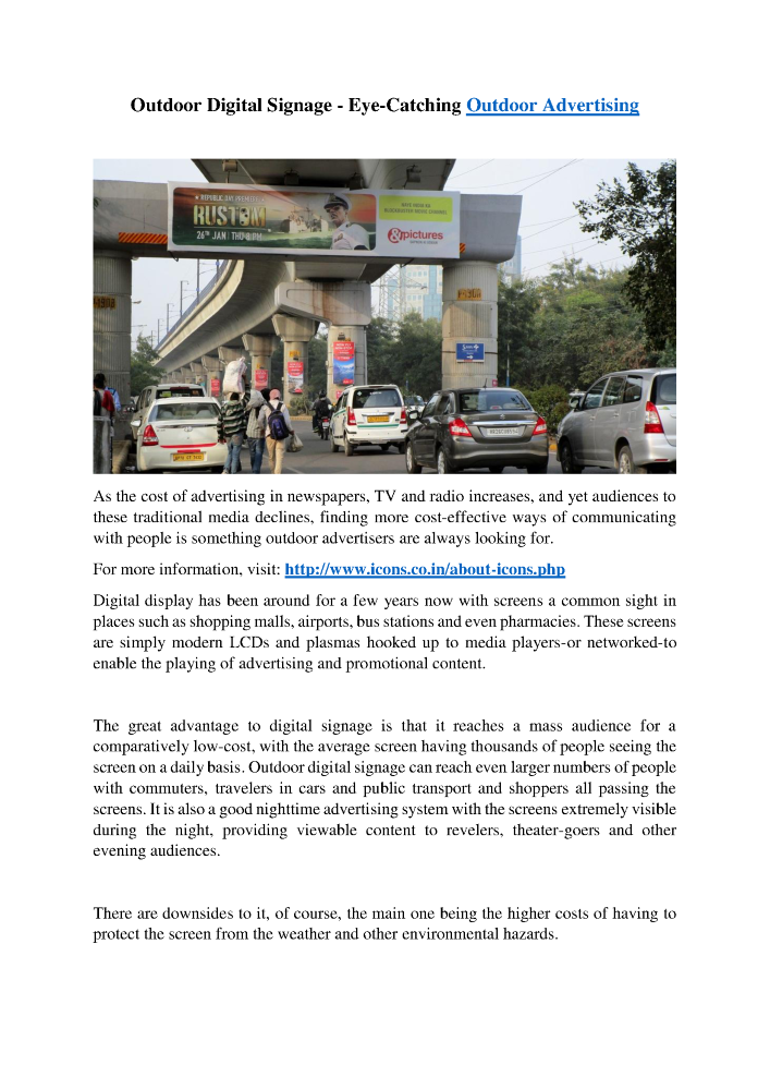 Outdoor Digital Signage-Eye-Catching Outdoor Advertising