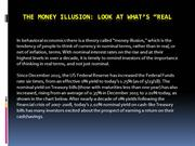 The Money Illusion - Look at whats Real