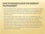 How to Manage Files in the Webroot File Manager