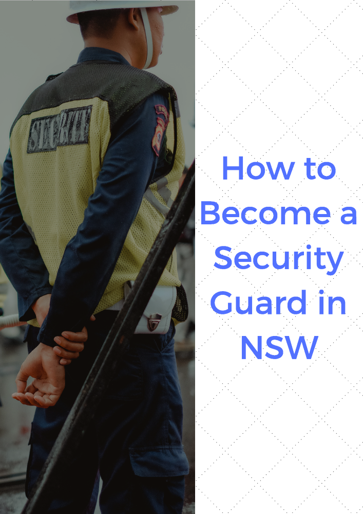 how to become a security guard in victoria
