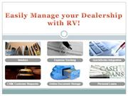 Easily Manage your Dealership with RV!