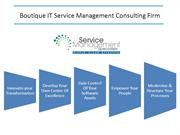 Boutique IT Service Management Consulting Firm