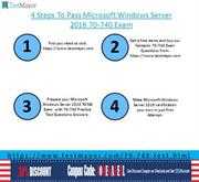 Microsoft Windows Server 2016 70-740 Practice Tests