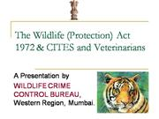 wild life protection act 1972