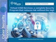 Cyber Security Services for Cyber Security Threats