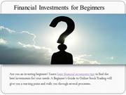 Financial Investments for Beginners | Investment Ideas for Beginners